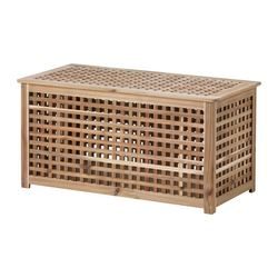 HOL - Meja untuk simpanan, akasia, 98x50 cm