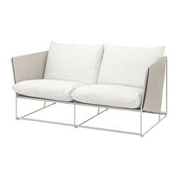 HAVSTEN - Sofa 2 dudukan, dalam/luar ruang, krem