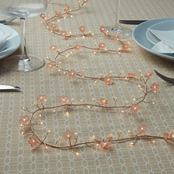 SOLGLIMTAR - LED lighting chain with 140 lights, battery-operated flower