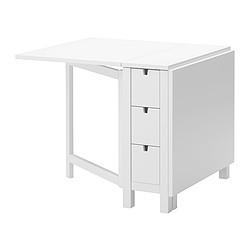 NORDEN - Meja lipat, putih