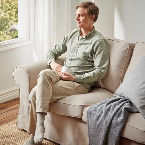 EKTORP - sofa 3 dudukan, Hallarp krem | IKEA Indonesia - PE790146_S4