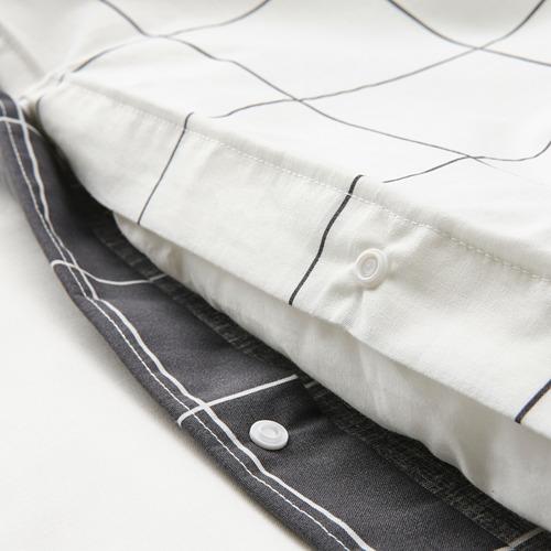 VITKLÖVER duvet cover and pillowcase