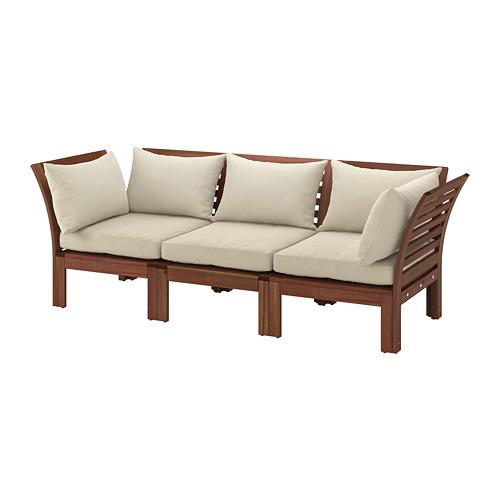 ÄPPLARÖ sofa mdlr tiga ddkan, luar ruangan