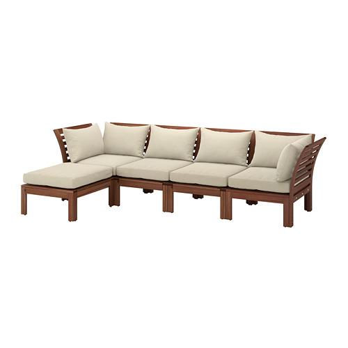 ÄPPLARÖ sofa mdlr empat ddkn, luar ruangan