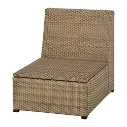 SOLLERÖN - One-seat section, outdoor, brown