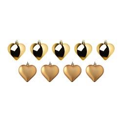 VINTERFEST - Dekorasi gantung, hati/warna emas
