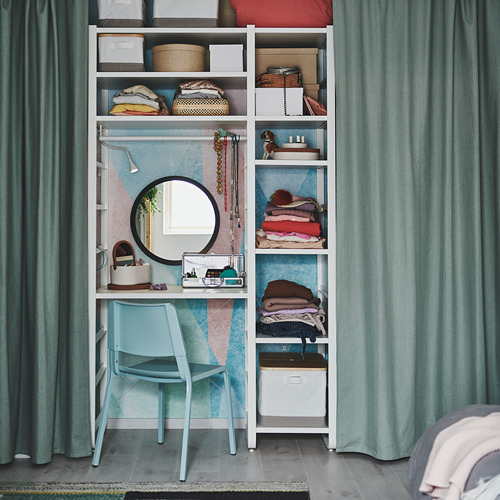 TIBAST - curtains, 1 pair, green, 145x250 cm | IKEA Indonesia - PH170714_S4