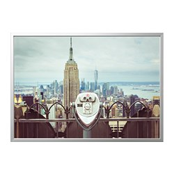 BJÖRKSTA - Picture with frame, Viewpoint/aluminium-colour