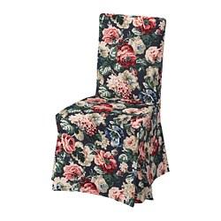 HENRIKSDAL - Kursi dengan sarung panjang, putih/Lingbo aneka warna 1