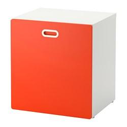 FRITIDS/STUVA - Penyimpanan mainan beroda, putih/merah