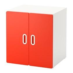 FRITIDS/STUVA - Cabinet, white/red