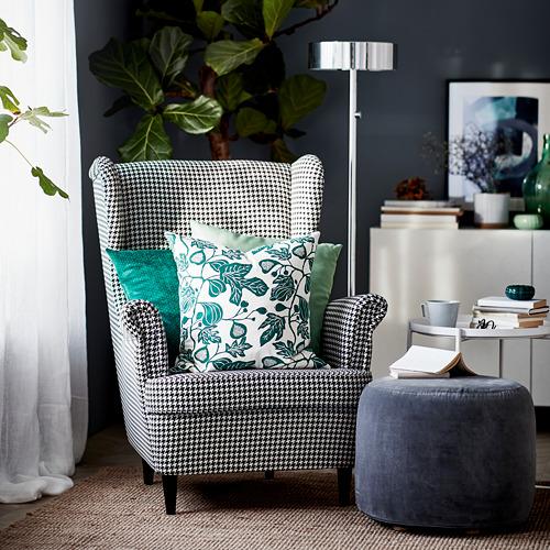 STRANDMON - kursi bersayap, Vibberbo hitam/krem | IKEA Indonesia - PH168645_S4