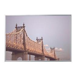 BJÖRKSTA - Gambar dengan bingkai, jembatan/warna aluminium