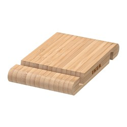 BERGENES - Holder for mobile phone/tablet, bamboo