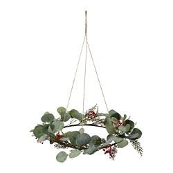 SMYCKA - SMYCKA, lingkaran bunga tiruan, dalam/luar ruang eucalyptus, 46 cm
