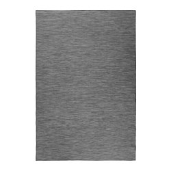 HODDE - Rug flatwoven, in/outdoor, grey/black