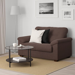 KNISLINGE - Sofa 2 dudukan, Samsta cokelat tua