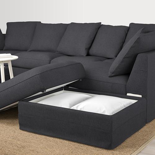 GRÖNLID - sofa bentuk u, 6 dudukan, dengan ujung terbuka/Sporda abu-abu tua   IKEA Indonesia - PE669712_S4