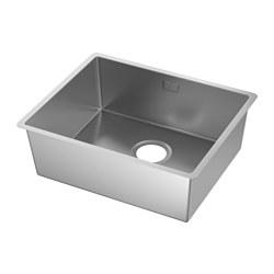 NORRSJÖN - Inset sink, 1 bowl, stainless steel