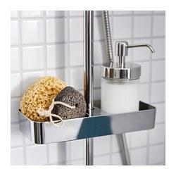 BROGRUND - Tempat peralatan mandi, dilapisi krom