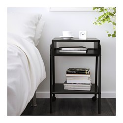 SETSKOG - Bedside table, black
