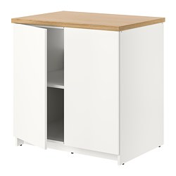 KNOXHULT - Base cabinet with doors, white