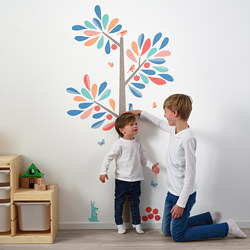 KINNARED - Decoration stickers, heightchart tree
