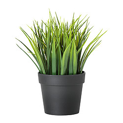 FEJKA - Artificial potted plant, in/outdoor grass