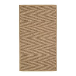 HELLESTED - Rug, flatwoven, natural/brown