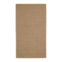 HELLESTED - Karpet, anyaman datar, alami/cokelat