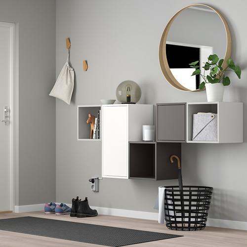 EKET - kombinasi kabinet dpasang di dnding, putih/abu-abu muda/abu-abu gelap, 175x35x70 cm   IKEA Indonesia - PE737847_S4