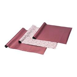 VINTER 2020 - Rol kertas kado, Pola christmas rose/pola titik-titik merah tua