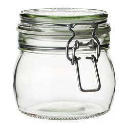 KORKEN - Jar with lid, clear glass