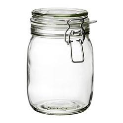 KORKEN - Stoples dengan penutup, kaca bening