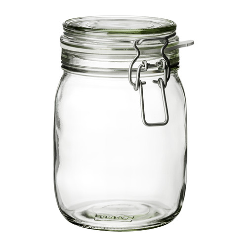 KORKEN jar with lid