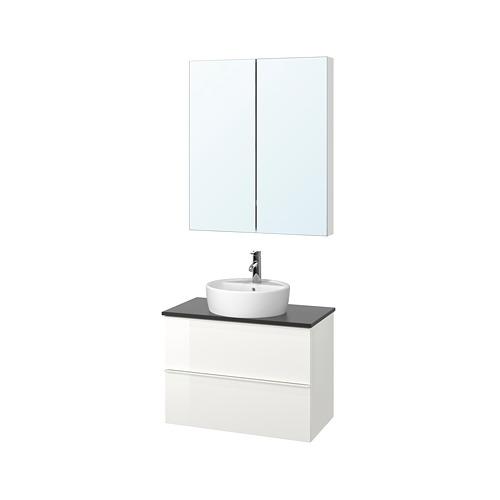 GODMORGON/TOLKEN/TÖRNVIKEN Perabot kamar mandi, set isi 5