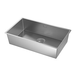 NORRSJÖN - Inset sink, 1 bowl, stainless steel