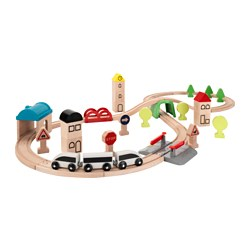LILLABO - 45-piece train set with rail