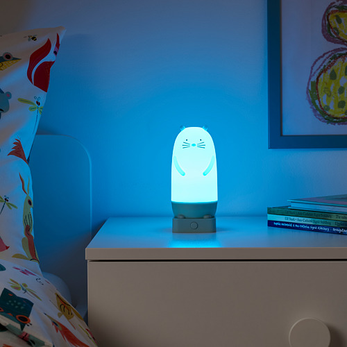 SPIKEN - LED night light, otter-shaped battery-operated/multicolour, 15 cm   IKEA Indonesia - PE777012_S4