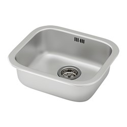 FYNDIG - Inset sink, 1 bowl, stainless steel