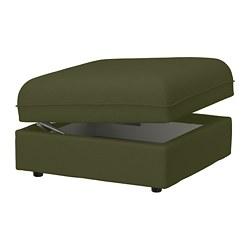 VALLENTUNA - Modul dudukan dg penyimpanan, Orrsta hijau-zaitun