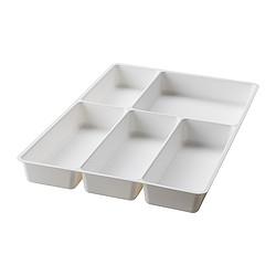 STÖDJA - Baki peralatan makan, putih