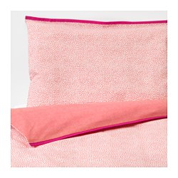 KLÄMMIG - Sarung quilt/bantal u ranjang bayi, merah