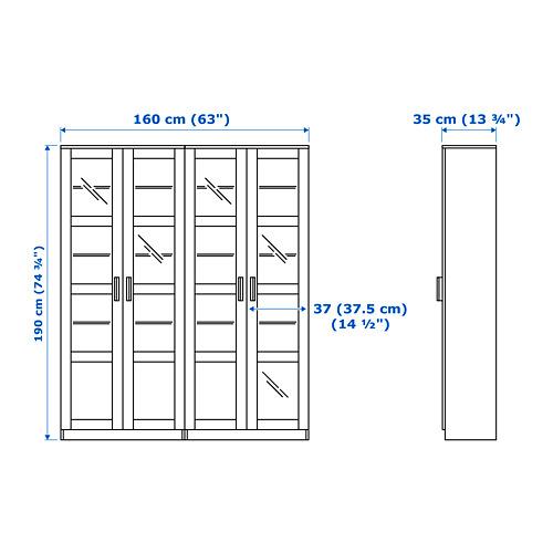 BRIMNES kombinasi penyimpanan dg pintu kaca