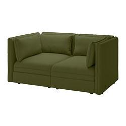 VALLENTUNA - Sofa modular 2 dudukan, Orrsta hijau-zaitun