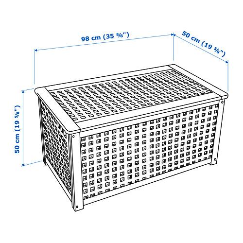 HOL - meja untuk simpanan, akasia, 98x50 cm | IKEA Indonesia - PE738391_S4