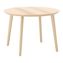 LISABO - Meja, veneer kayu ash