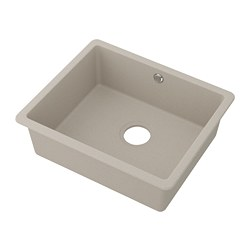 KILSVIKEN - Inset sink, 1 bowl, grey/beige quartz composite