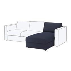 VIMLE - Bagian chaise longue, Orrsta hitam-biru