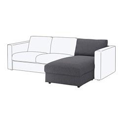 VIMLE - Bagian chaise longue, Gunnared abu-abu medium